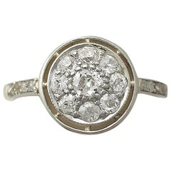 1920s Diamond and Yellow Gold Cocktail Ring
