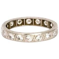 Vintage Diamond and Platinum Eternity Ring