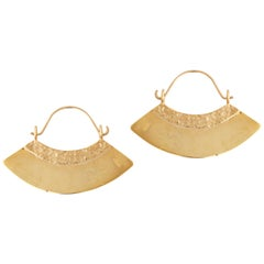 Gold Fan Earrings by Allison Bryan