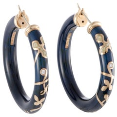 Nouvelle Bague Semi d'Amore Yellow Gold and Sterling Silver Earrings
