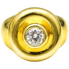 .51 Carat Tiffany & Co. Paloma Picasso 18 Karat Yellow Gold Diamond Ring