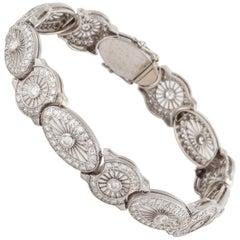 1940s Diamond Bracelet in White Gold