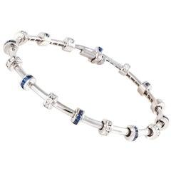 Krypell Diamond and Sapphire Bracelet