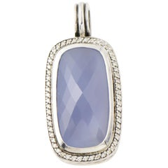 Yurman Chalcedony and Diamond Sterling Silver Pendant