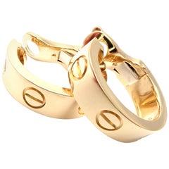 Cartier Love Hoop Yellow Gold Earrings