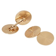 Boucheron, Pair of 18 Karat Art Deco Gold Radiant Cufflinks, circa 1935