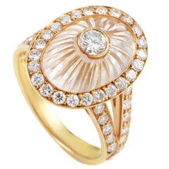 Boucheron White Crystal Diamond Gold Ring