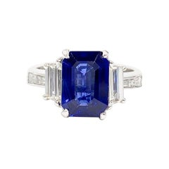 Platinum JB Star 3.22 Carat Sapphire and Diamond Ring