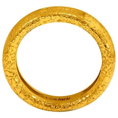 Alex Soldier 18 karat Textured Gold Band