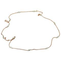 Diamonds by the Yard 14 Karat Rose Gold Necklace