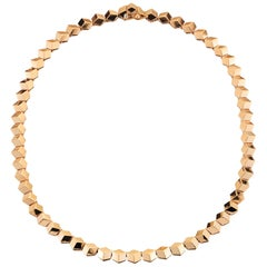 18 Karat Rose Gold Brillante Necklace, Petite
