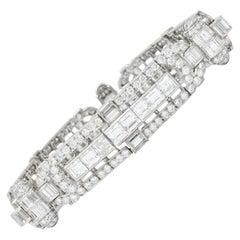 Exquisite Retro 23.00 Carat Diamond Platinum Bracelet