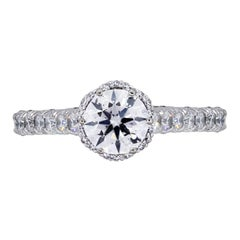 Tacori Round Brilliant Diamond Petite Crescent Engagement Ring