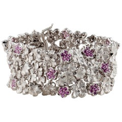 Carrera y Carrera Pink Sapphire Floral Bracelet
