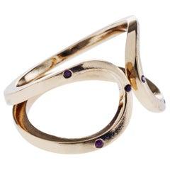 Ruby Gold Love Ring Infinity Adjustable J Dauphin
