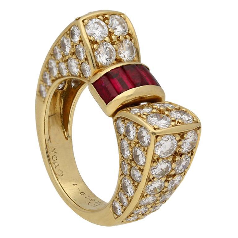 Van Cleef & Arpels Ruby and Diamond Ring, circa 1960