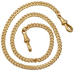 1900s Antique Fob Chain in Yellow Gold