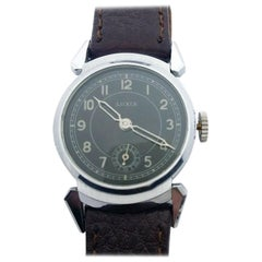 Never Used Art Deco Gents Wrist Watch, 1930s, Luxia, Swiss