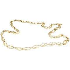 Cartier Gioconda Necklace Vintage 18 Karat Yellow Gold Swan