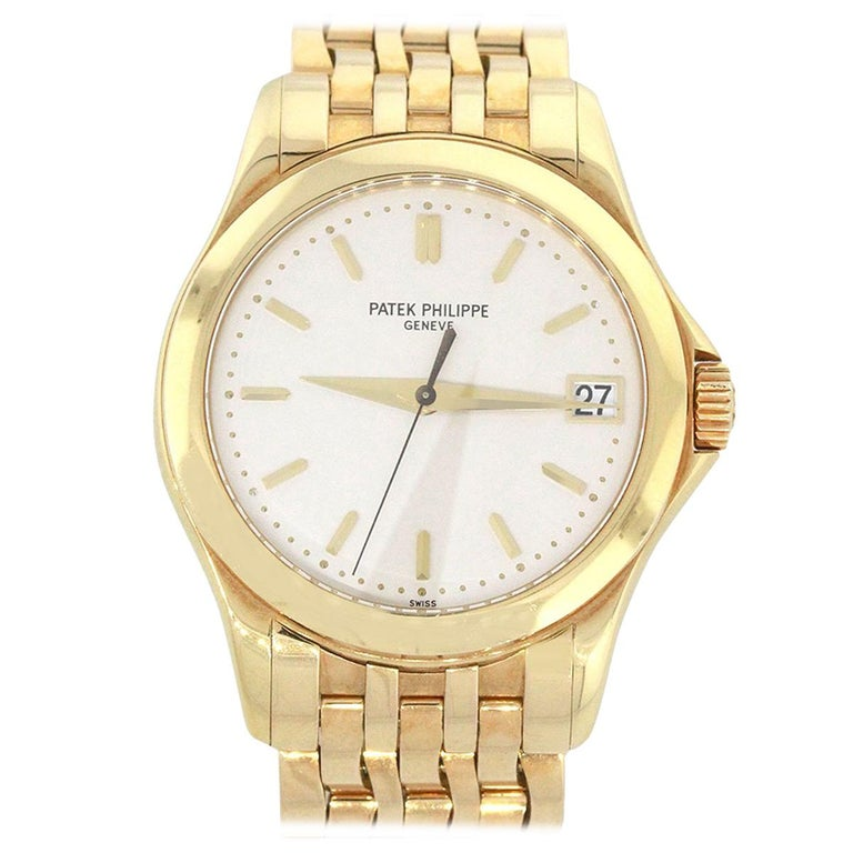 Patek Philippe 5107J Calatrava White Dial Watch For Sale