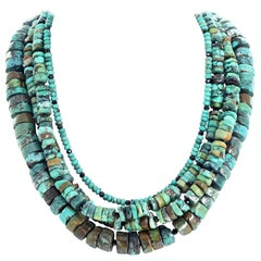 Multi-Strand Unique Turquoise Necklace