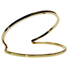 Bangle Cuff Bracelet Polished Brass Statement piece J Dauphin
