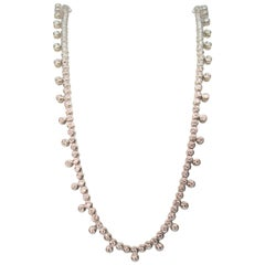 Diamond & 14K White Gold Collar Necklace