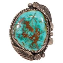 Navajo Carico Lake Turquoise Ring
