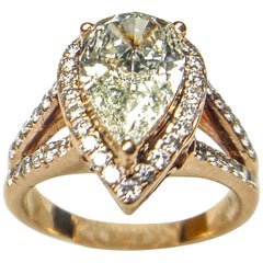 Pear Shape Diamond Wedding Ring