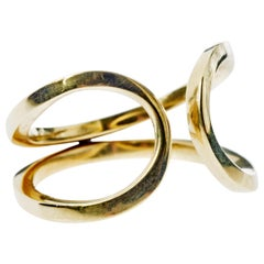 Love Band Ring Gold Open Adjustable J Dauphin