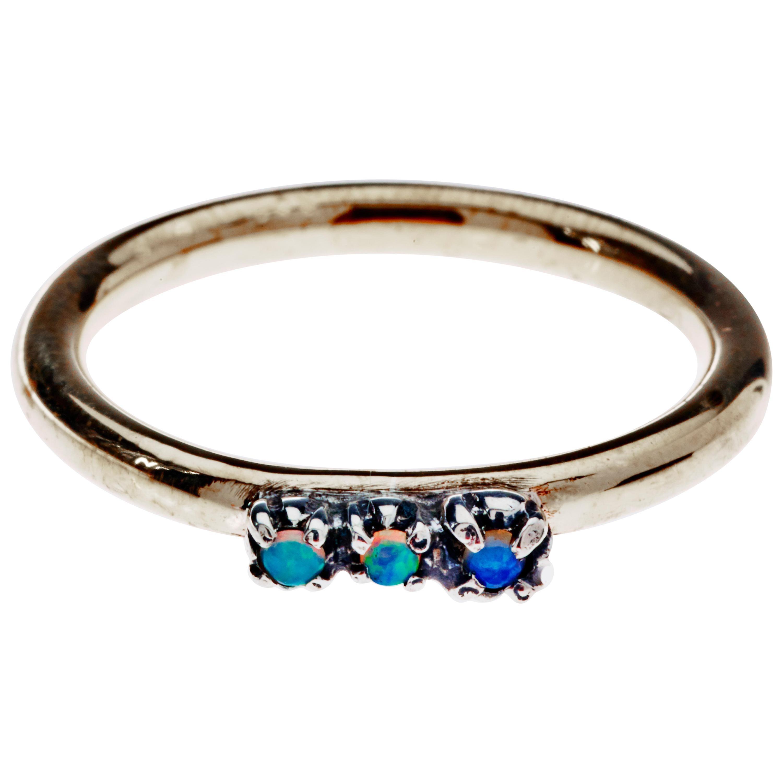 Opal Stone Gold Eternity Band Ring J Dauphin
