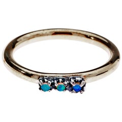 Opal Stone Gold Eternity Band Ring J Dauphin