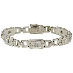 Unisex 1.50 Carat Old Mine Cut Diamond 21.8 Grams 18 Karat