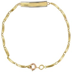 French 1900s 18 Karat Yellow Gold Baby Curb Bracelet