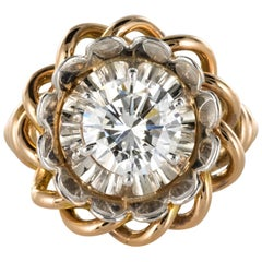 1960s Retro 2.06 Carat Diamond Solitary Ring