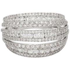 18 Karat White Gold and Brilliant Diamond Ring 1.95 Carat