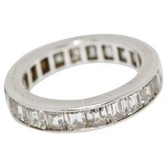 Van Cleef & Arpels Baguette Diamond Platinum Eternity Band Ring