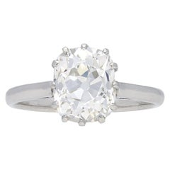 Old Mine Diamond Solitaire Engagement Ring, circa 1920
