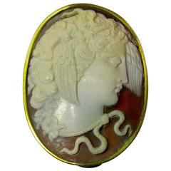 Antique Decorative Box with Cameo of Medusa
