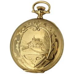 Antique 14 Karat Gold Elgin Pocket Watch, circa 1895