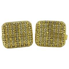 Vintage 18 Karat Gold Cufflinks, circa 1970s