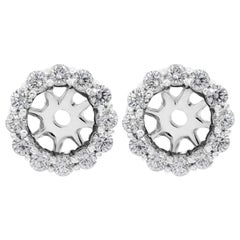 1.68 Carat Round Diamond Earring Jackets