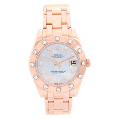Rolex Midsize Masterpiece or Pearlmaster Everose Diamond Watch 81315