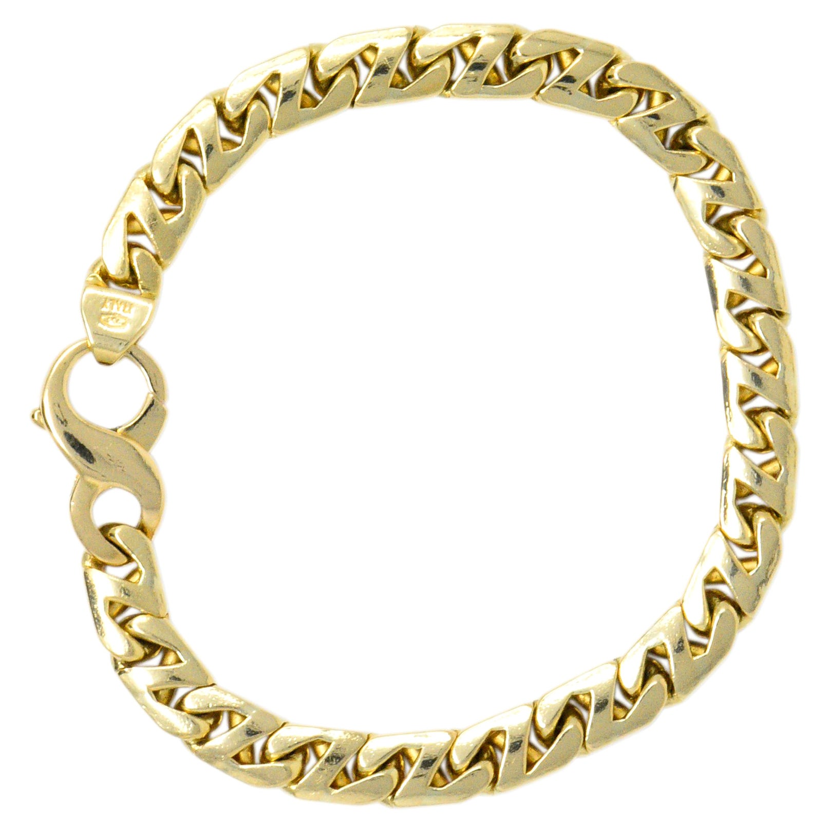Tiffany & Co. Vintage 18 Karat Gold Cuban Chain Unisex Bracelet