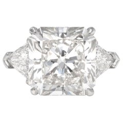 GIA Certified 7.71 Carat K VVS2 Radiant Cut Diamond Ring