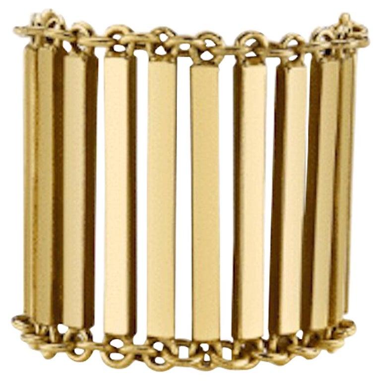 18-karat gold Linea ring