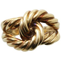 Gold Knot Rope Ring