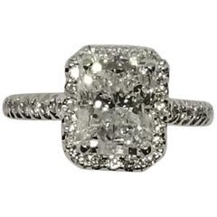 "GIA zertifiziert, 2,77 Karat Diamant, radialer Schliff, Farbe ""D"""