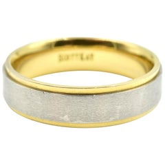 Scott Kay Gents 19 Karat Yellow Gold and Paladium Ring, 9.10 Grams