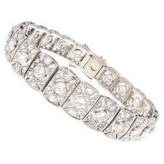 Art Deco Revival Diamond Platinum Bracelet